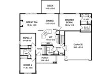 Ranch Floor Plan - Main Floor Plan Plan #1010-137