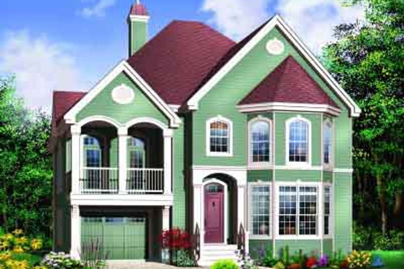 European Exterior - Front Elevation Plan #23-573 - Houseplans.com