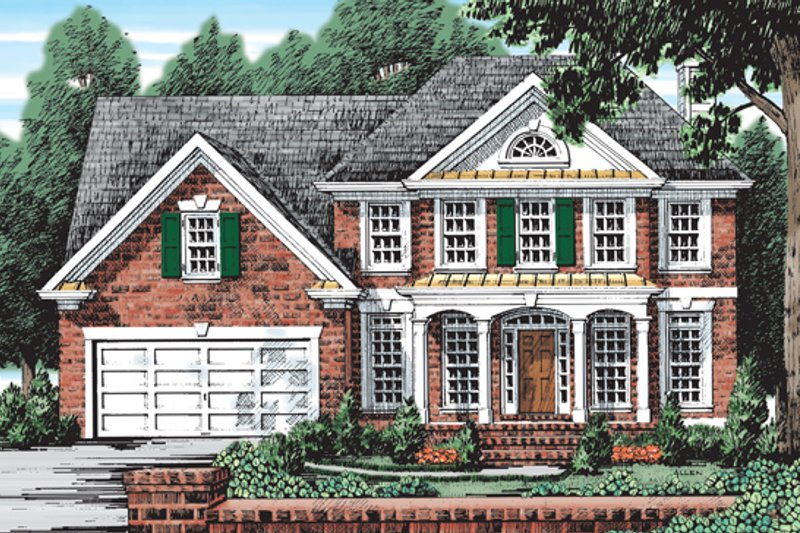 Colonial Exterior - Front Elevation Plan #927-46 - Houseplans.com