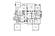 Mediterranean Style House Plan - 5 Beds 5 Baths 7363 Sq/Ft Plan #1058-19 Floor Plan - Main Floor