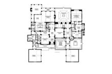 Mediterranean Floor Plan - Main Floor Plan Plan #1058-19