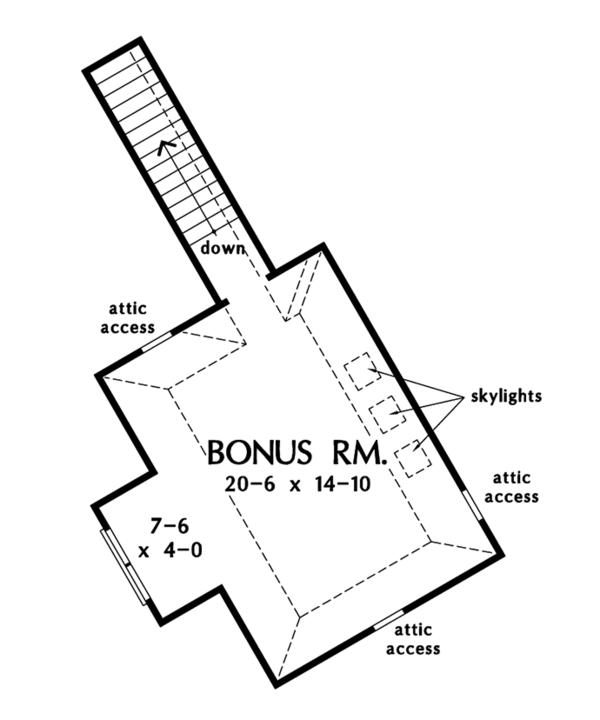 Country Floor Plan - Other Floor Plan Plan #929-993