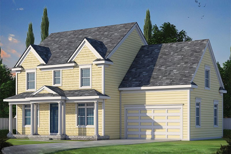 Architectural House Design - Colonial Exterior - Front Elevation Plan #20-2250