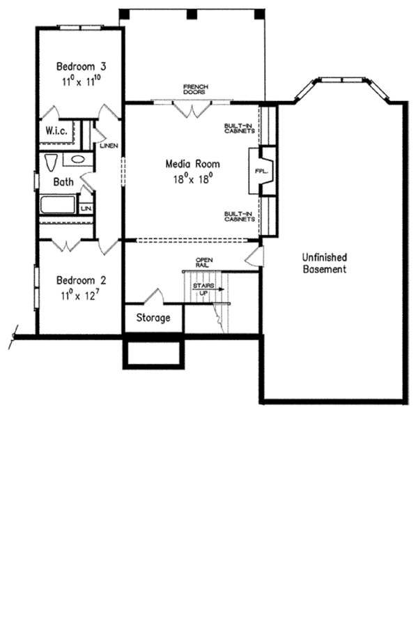Tudor Floor Plan - Lower Floor Plan Plan #927-433