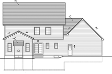 Architectural House Design - Colonial Exterior - Rear Elevation Plan #1010-35