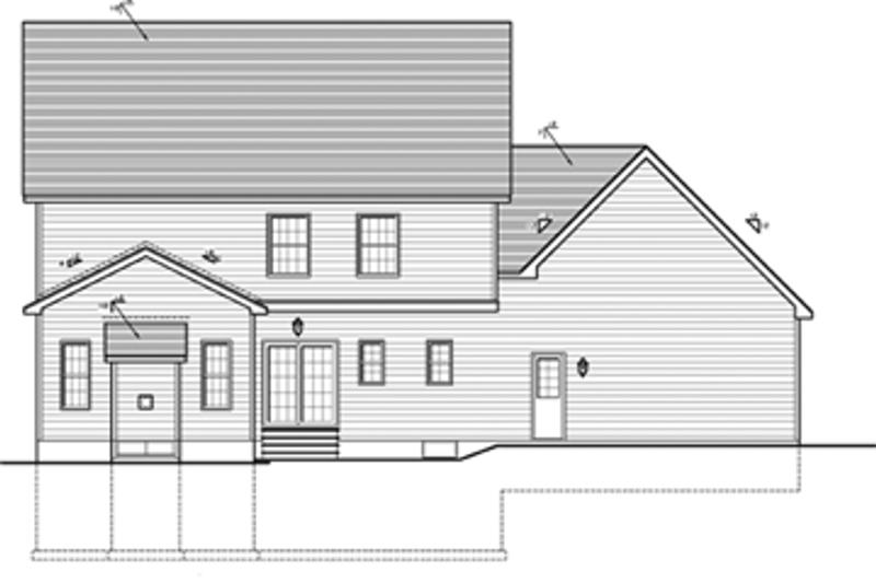 Colonial Exterior - Rear Elevation Plan #1010-35 - Houseplans.com