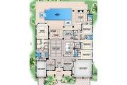Contemporary Style House Plan - 4 Beds 4.5 Baths 6262 Sq/Ft Plan #27-565 Floor Plan - Main Floor Plan