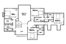 Craftsman Floor Plan - Upper Floor Plan Plan #928-113