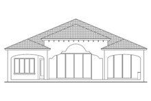 Home Plan - Mediterranean Exterior - Rear Elevation Plan #930-444