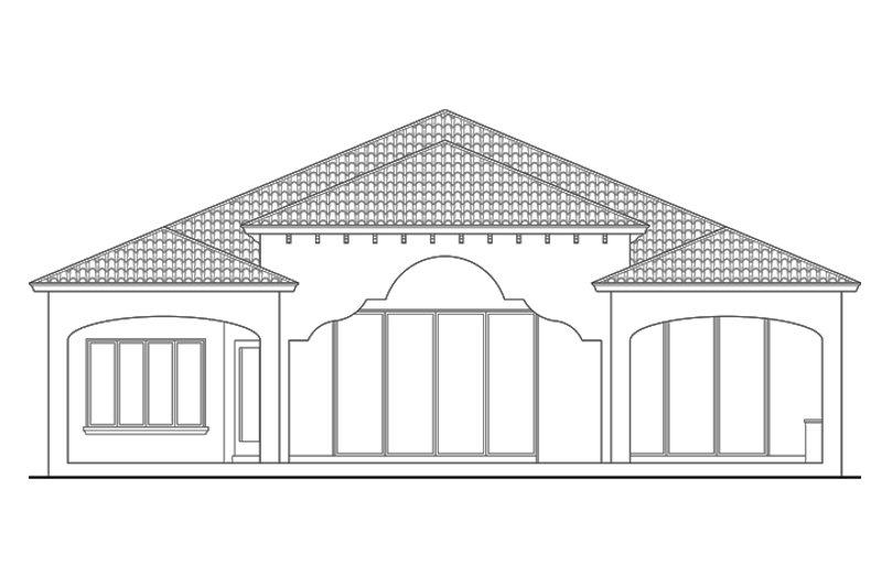 Mediterranean Exterior - Rear Elevation Plan #930-444 - Houseplans.com