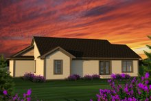 House Plan Design - Ranch Exterior - Rear Elevation Plan #70-1186
