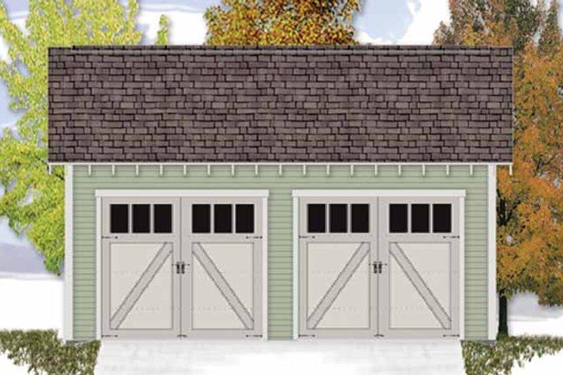 Craftsman Exterior - Front Elevation Plan #306-128 - Houseplans.com