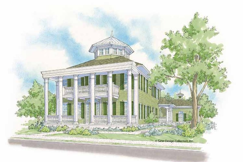 Southern Exterior - Front Elevation Plan #930-406
