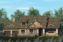 Architectural House Design - Craftsman Exterior - Front Elevation Plan #453-611