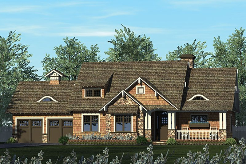 Craftsman Exterior - Front Elevation Plan #453-611 - Houseplans.com