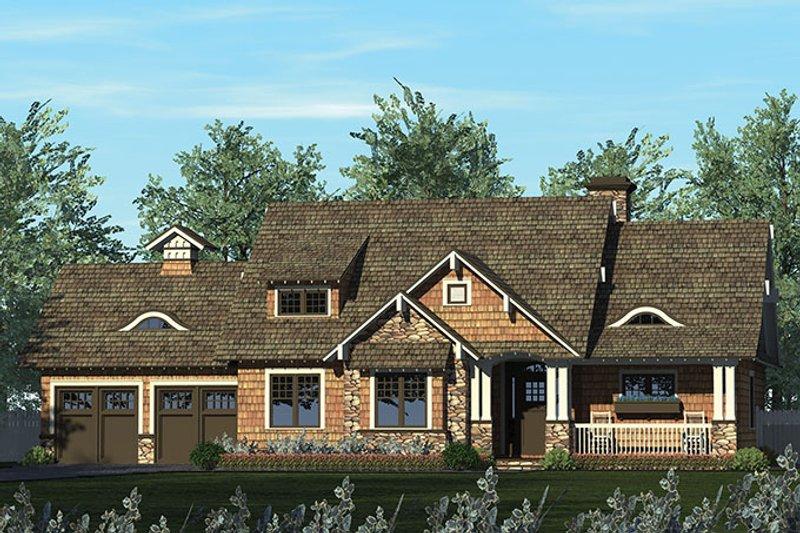 Architectural House Design - Craftsman Exterior - Front Elevation Plan #453-611