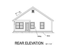 Home Plan - Cottage Exterior - Rear Elevation Plan #513-2187