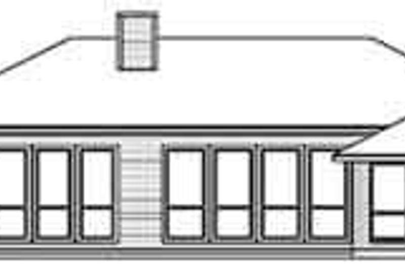 European Exterior - Rear Elevation Plan #84-217 - Houseplans.com