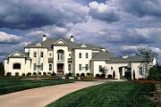 European Style House Plan - 5 Beds 4 Baths 6820 Sq/Ft Plan #453-356 Exterior - Front Elevation