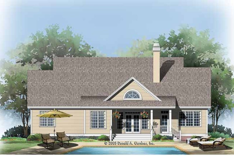 Traditional Exterior - Rear Elevation Plan #929-781 - Houseplans.com