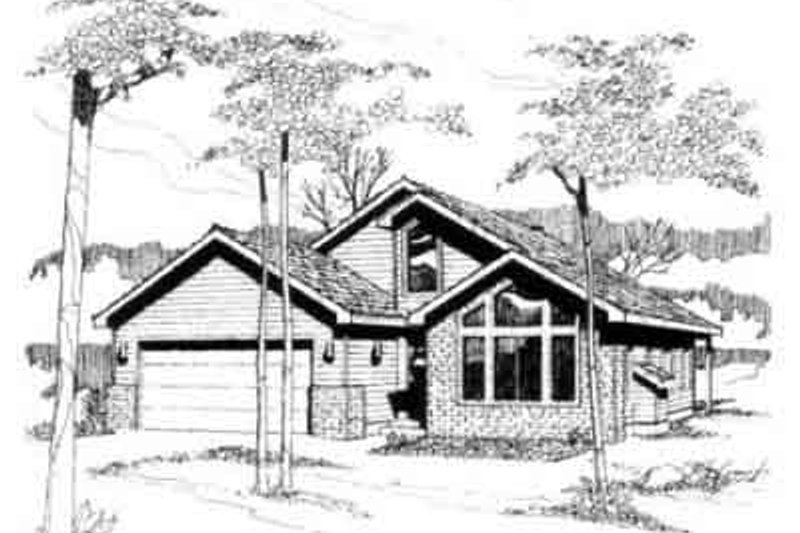 Traditional Exterior - Front Elevation Plan #117-190 - Houseplans.com