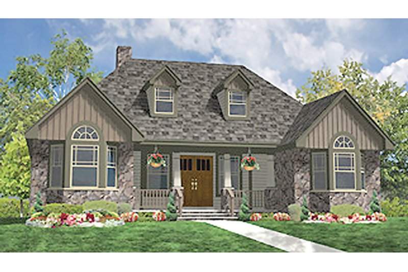 Craftsman Exterior - Front Elevation Plan #314-279