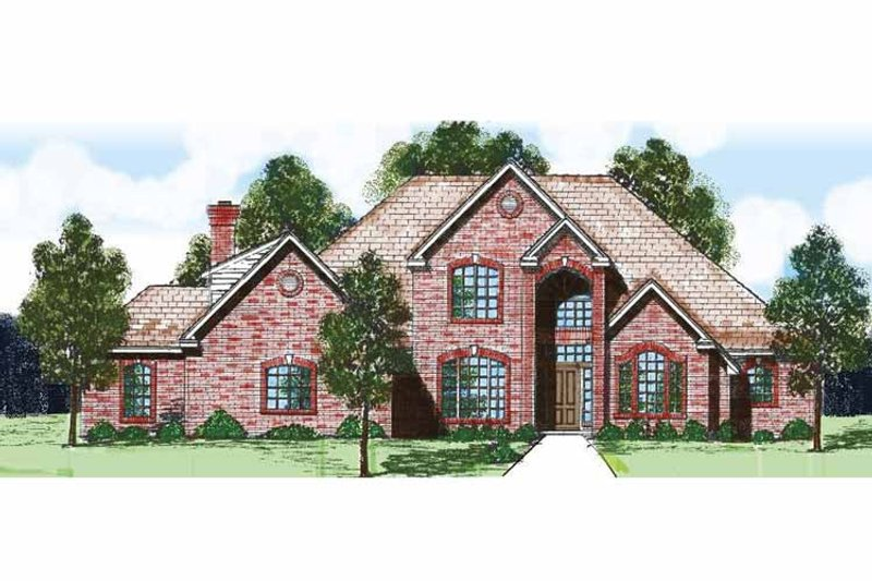 Traditional Exterior - Front Elevation Plan #52-272 - Houseplans.com