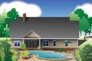 European Style House Plan - 3 Beds 2 Baths 1818 Sq/Ft Plan #929-967 Exterior - Rear Elevation