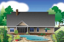 Home Plan - European Exterior - Rear Elevation Plan #929-967