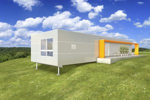 Modern Exterior - Front Elevation Plan #497-59