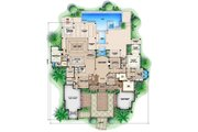 Colonial Style House Plan - 5 Beds 5.5 Baths 13601 Sq/Ft Plan #27-464 Floor Plan - Main Floor