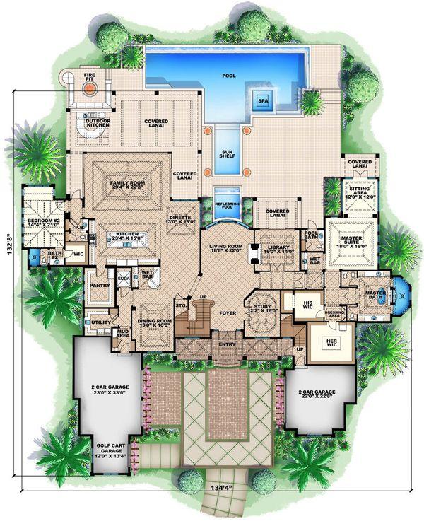 Colonial Floor Plan - Main Floor Plan Plan #27-464