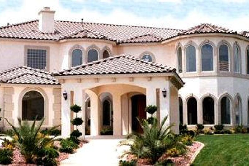 Mediterranean Style House Plan - 6 Beds 7 Baths 7507 Sq/Ft Plan #1-941 Exterior - Front Elevation