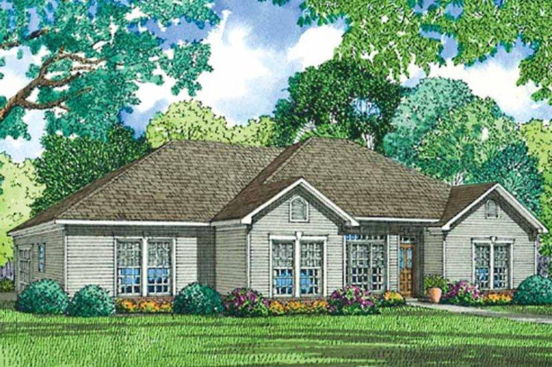 Ranch Exterior - Front Elevation Plan #17-3173 - Houseplans.com