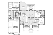 Ranch Style House Plan - 3 Beds 3.5 Baths 2294 Sq/Ft Plan #56-696 Floor Plan - Main Floor