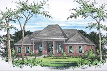 Dream House Plan - Classical Exterior - Front Elevation Plan #15-380