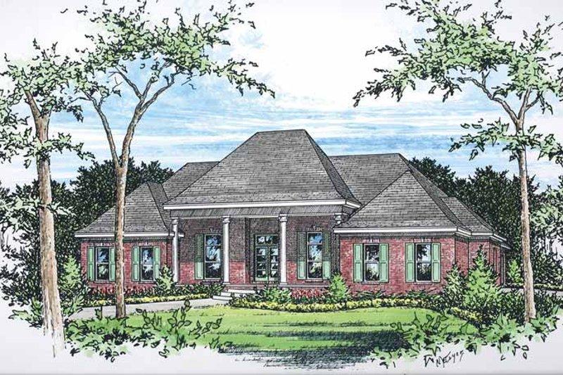 Classical Exterior - Front Elevation Plan #15-380 - Houseplans.com