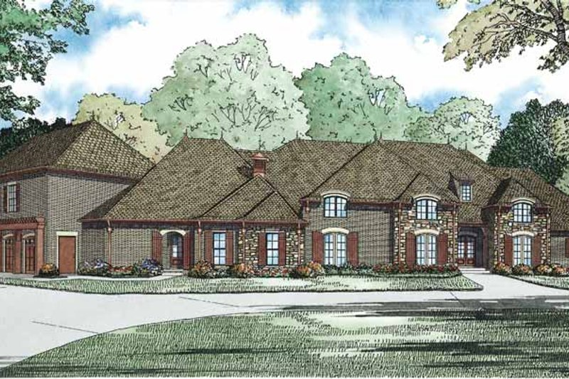 European Exterior - Front Elevation Plan #17-3347