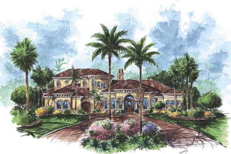 Dream House Plan - Mediterranean Exterior - Front Elevation Plan #1017-69