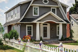 Home Plan - Colonial Exterior - Front Elevation Plan #1010-127