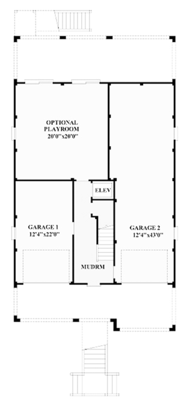 Colonial Floor Plan - Main Floor Plan Plan #991-24