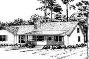 Ranch Style House Plan - 3 Beds 2 Baths 1864 Sq/Ft Plan #10-231 Exterior - Front Elevation