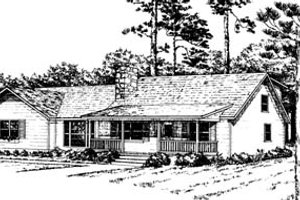 Ranch Exterior - Front Elevation Plan #10-231