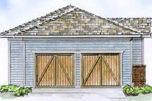 Country Exterior - Rear Elevation Plan #410-3560