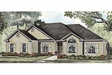 Ranch Exterior - Front Elevation Plan #17-2934