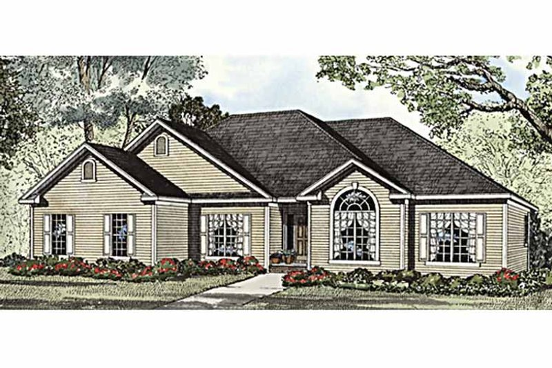 Home Plan - Ranch Exterior - Front Elevation Plan #17-2934