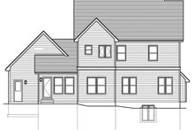Colonial Exterior - Rear Elevation Plan #1010-197
