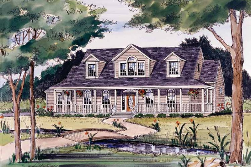 Victorian Exterior - Front Elevation Plan #314-187 - Houseplans.com