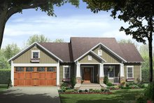 Home Plan - Bungalow style home, Craftsman design, elevation
