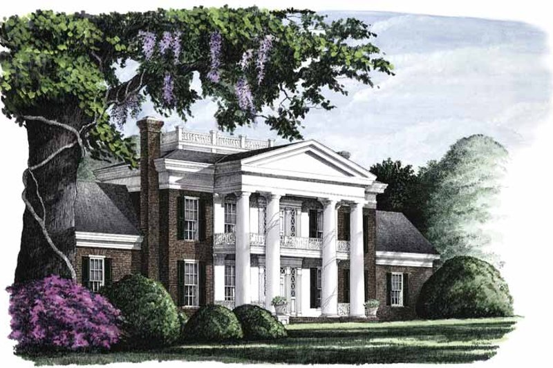 Classical Exterior - Front Elevation Plan #137-300